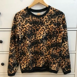 Zara TRF Animal Print Sweatshirt S